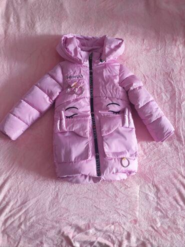 Куртка на девочку 4 года, состоянии нового, очень тёплая и