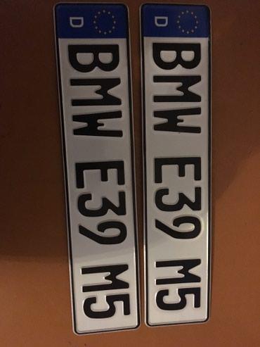 Продаю номера подложки на БМВ е39 в Кок-Ой