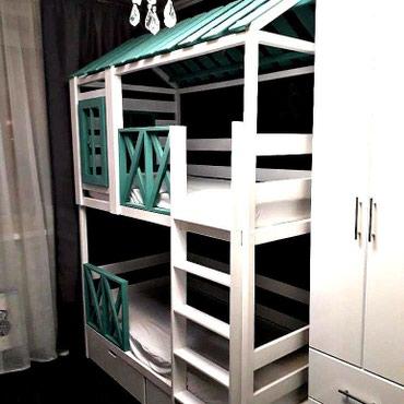 Двухярусный кровать размер 170/70 см + артапед матрас в Кок-Ой