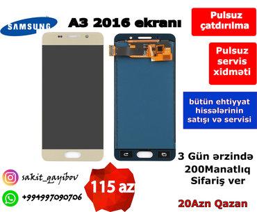 Samsung galaxy a3 2016 teze qiymeti - Azərbaycan: A3 2016 ekrani orginal