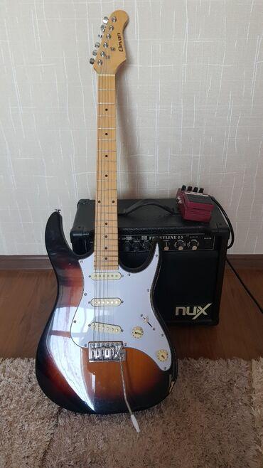 detskij velosiped hot rod в Кыргызстан: Продаётся электро гитара фирмы Clevan комбоусилитель фирмы Nux и пед