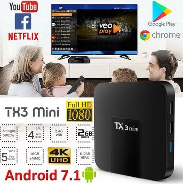Android TV Box/Smart TV/Mini PC TX3mini 2GB RAM kvad-core 16GB ROM in Belgrade