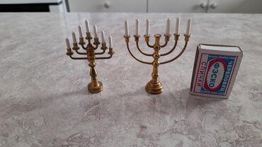 Спорт и хобби - Кой-Таш: Продаю два подсвечника миниатюрки коллекция. Чехия. Цена 2 000сом
