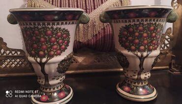 """Две вазы с Советских времен,, СССР""""расписные узоры, очень красивые, ре"""