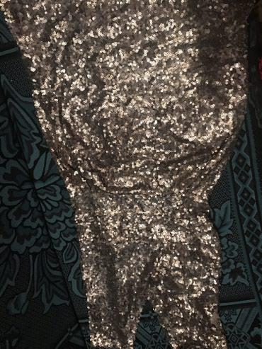 Lux haljina srebrna...sivena po meri i jednom nosena...placena mnogo in Crvenka