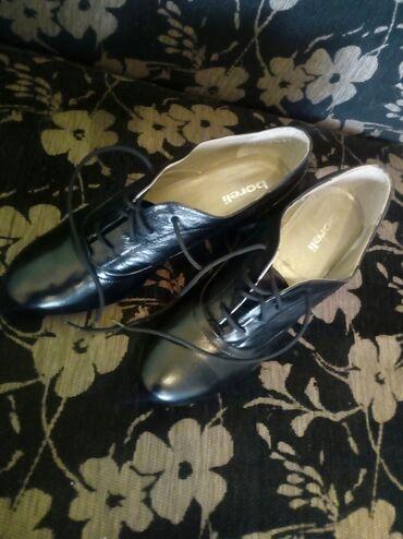 Sako crne boje - Srbija: Nove elegantne kožne duboke crne cipele sa štiklom idealne za hladne
