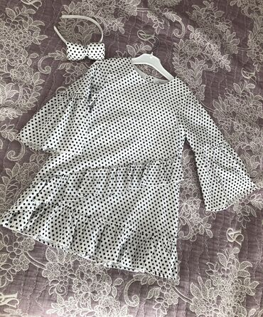 платье бохо батальных размеров в Кыргызстан: Красивое,нарядное платье с ободком,Турция! Размер 4-5 лет
