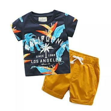 мужские шорты в Кыргызстан: Для мальчиков комплект. Футболка и короткие шорты, возраст 5 лет