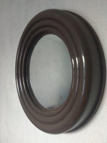 зеркало в комнате в Кыргызстан: Зеркало от набора для ванной комнаты, диаметр зеркала 26 см, с