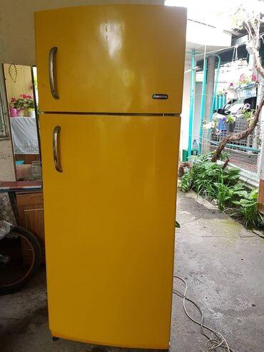 Б/у Двухкамерный Желтый холодильник
