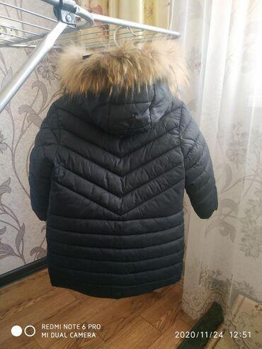 chernaja kozhannaja kurtka в Кыргызстан: Kurtka dly mal'chika,zima horowem sostoyani, razmer na3 i 4 godika