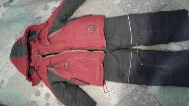 Верхняя одежда в Кыргызстан: Продаю комбинезоны розовый . тёмно синий серый с красной курткой