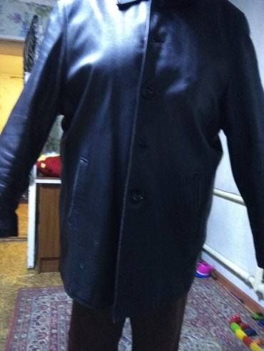 Мужская одежда - Кок-Ой: Куртка мужская 54 размер натуральная кожа. б. у. отдаем дешево