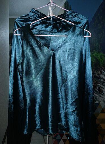 Атласный костюм сшитый на заказ изумрудного цвета!!! Размер 42