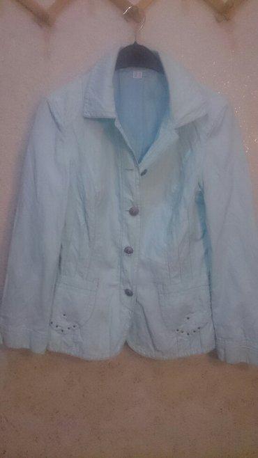 женские куртки зефирки в Азербайджан: Пиджак - куртка голубого цвета