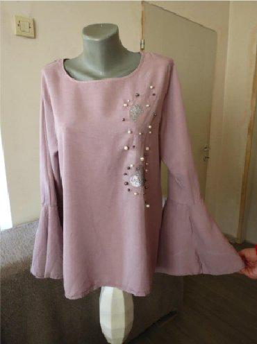 Bluza sa rukav - Srbija: Tunika sa perlicama MItalijanska, moderna kosulja ili tunika, sa