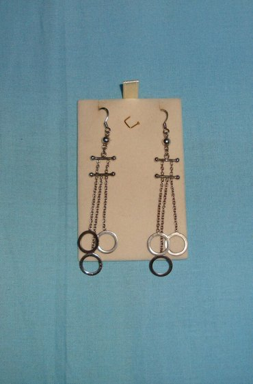 Ασημένια σκουλαρίκια, αφόρετα(κωδ. 44)Λόγω Covid-19 τα προϊόντα, πριν