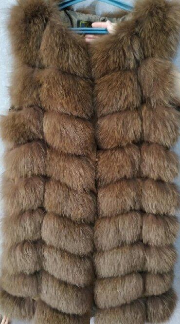 Женская одежда в Массы: Жилетка из песца. Длина 90 см