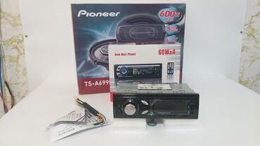 Pioneer dinamik ve bulutuzlu maqnitafon aux flash usb radioAvtomobil