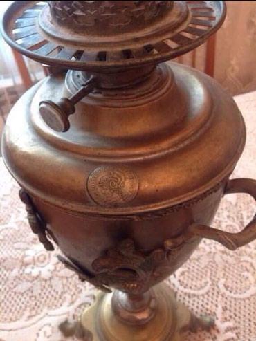 Ucar şəhərində Qədimi əşya (lampa)