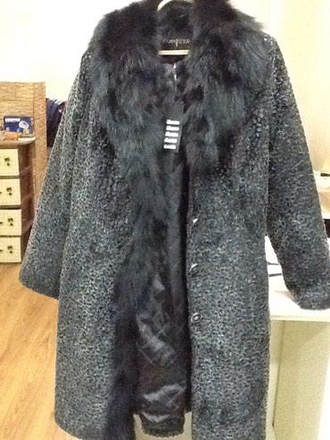 Женское зимнее пальто с мехом цвет черный новое размер 42 в Bakı