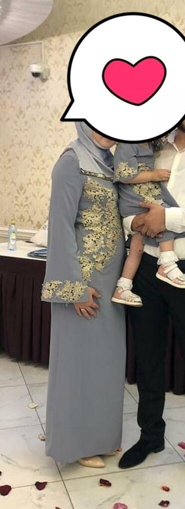 платье мама и дочь в Кыргызстан: Продаю комплект мама -дочка б/у. Платья сшиты из хорошей дорогой ткани