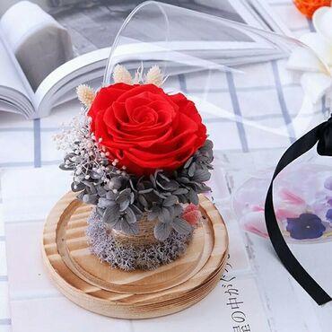 цветы для украшения в Кыргызстан: Роза в колбе (мини) 16см +БЕСПЛАТНАЯ ДОСТАВКА ПО КЫРГЫЗСТАНУЦена