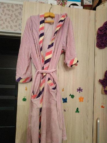 турецкий домашний халат в Кыргызстан: Срочно продаю турецкий велюровый халат, размер 44-46