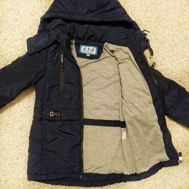 Куртка на мальчика 4-6 лет. Состояние идеальное. Рукава на манжетах, к