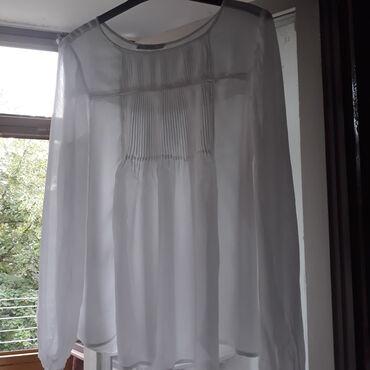 Mango - Srbija: Lepa, bela svecana bluzica jednom obucena/kao nova,marka original
