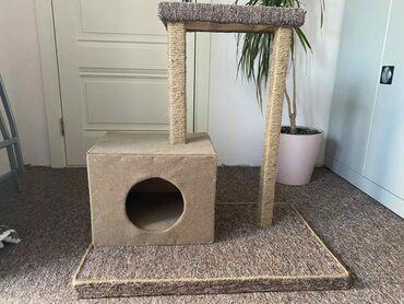 1077 объявлений: Продаётся Домик для котиков с удобными когтечёсками и лежаком . Эта