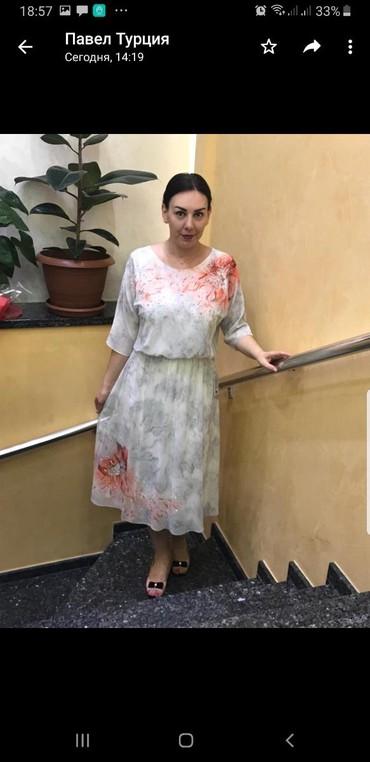 платье из шифона в Кыргызстан: Нарядное платье от одной из лучших фабрик ТурцииТкань шифон, камни