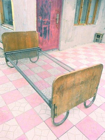 продаю металлическую кровать б/у размер 1. 9 м   х   0. 9 м  самовывоз в Бишкек