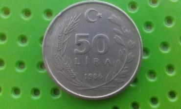 İdman və hobbi İmişlida: Продаются Турецкии манета 50 LIRE 1986год. Манет.харош сахран.Гошгар