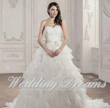 платье в Кыргызстан: Свадебное платье из Штатов(новое) размер 40-42 ликвидация в связи с