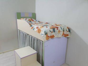 Односпальные кровати - Кыргызстан: Нижнюю часть можно использовать как игровую площадку для детей. при