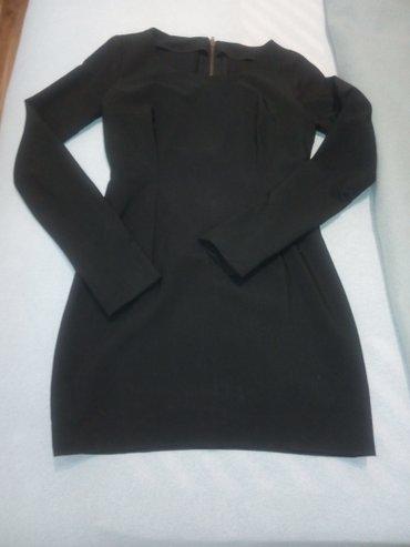 Mala crna mini haljinica, velicina s. Na ledjima ima zlatni cibzar. - Novi Sad