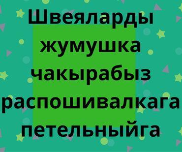 брендовые одежды в Кыргызстан: Акбосогодо Швейный цехкеШвеялар надомдор распошивалкагаПетельныйга
