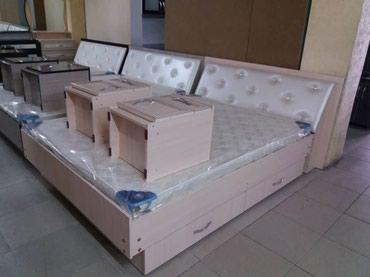 Двухспальный кровать с тумбочками в Бишкек