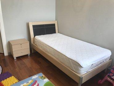 односпальная кровать с тумбой в идеальном состоянии (дополнительно in Бишкек
