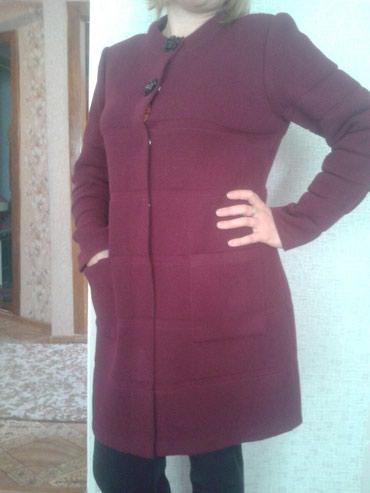 Кардиган новый! плотная вязка, 46-48 размер, цвет бордовый. в Бишкек