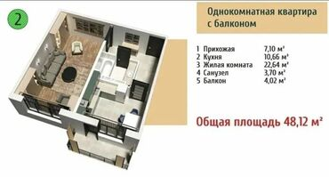 мед цена за 1 кг 2021 in Кыргызстан | МЯСО, РЫБА, ПТИЦА: 1 комната, 48 кв. м