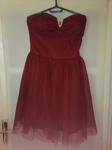 Ostalo | Kovacica: Haljina, bordo boja L/XL veličina, sa elastinom Može zamena
