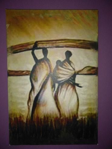 """Na prodaju  slika """"Narod Afrike""""... Dimenzije 20 x 30 cm.... Slika je - Cuprija"""