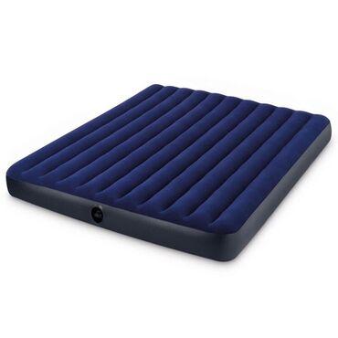 Надувной матрас серии «комфорт», синий. Надувные матрасы этой серии