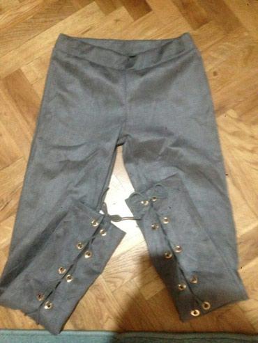 Pantalonice,uske skroz,od velura (prevrnute )nove ne - Crvenka