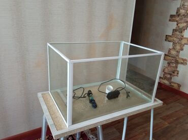 Аквариумы - Кыргызстан: Продаётся 2 аквариума 1 -84 л 2 - 35 л, в комплекте имеется кислор