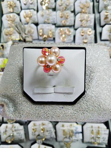Профнастил 0 45 цена - Кыргызстан: Кольцо жёлтое золото с бриллиантами и жемчугом и опалами, размер 17.5
