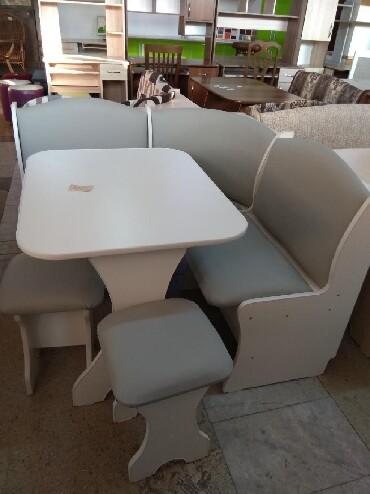 стол на кухню раскладной в Кыргызстан: Новый кух.угол, размер 1.22*1.22, стол,2 таб,дост