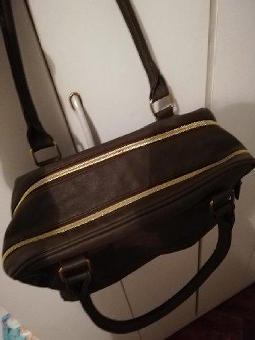 Braon sa - Srbija: Braon torba, sa dve odvojene pregrade